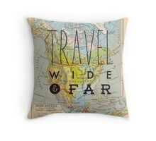 Travel Wide & Far - North America Throw Pillow