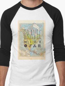 Travel Wide & Far - North America Men's Baseball ¾ T-Shirt