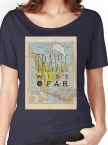 Travel Wide & Far - North America Women's Relaxed Fit T-Shirt