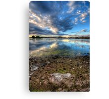 Willow Lake Reflect Blue Portrait-Second Look Canvas Print