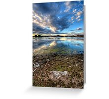 Willow Lake Reflect Blue Portrait-Second Look Greeting Card