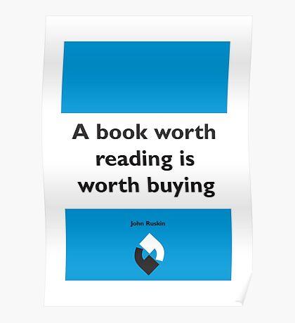 On Books - John Ruskin Poster
