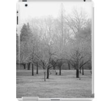 Foggy Day. B&W photo of naked winter trees. iPad Case/Skin