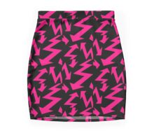 Retro 80's Lightning Arrow by 'Chillee Wilson'  Pencil Skirt
