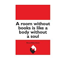 On Books - Marcus Tullius Cicero Photographic Print