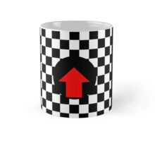 Mod Checkered Two Tone with Red Arrow by 'Chillee Wilson' Mug