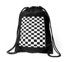 Mod Checkered Two Tone by 'Chillee Wilson'  Drawstring Bag