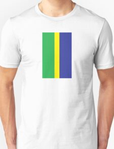 Mod Brazilian Stripes by 'Chillee Wilson' T-Shirt