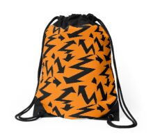 Retro 80's Lightning Arrow by 'Chillee Wilson'  Drawstring Bag