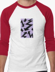 Retro 80's Lightning Arrow by 'Chillee Wilson'  Men's Baseball ¾ T-Shirt