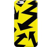 Retro 80's Lightning Arrow by 'Chillee Wilson'  iPhone Case/Skin