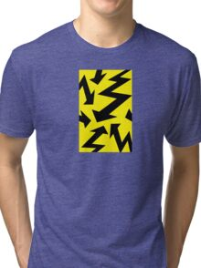 Retro 80's Lightning Arrow by 'Chillee Wilson'  Tri-blend T-Shirt