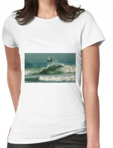 #246 Surfer In San Francisco Womens Fitted T-Shirt