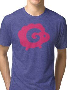 Pink Dreams - Multiple Sheeps Pattern Tri-blend T-Shirt