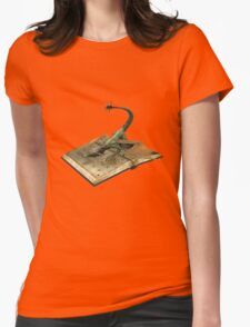 mystical book of dragons Womens Fitted T-Shirt