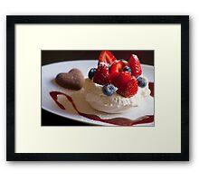 'Valentine'... Berry Dessert  Framed Print