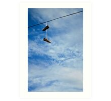 Shoe Tossing Art Print