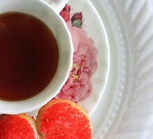 Tea & cookie- card by Angela King-Jones