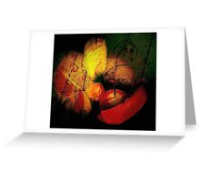 fruit on the floor...... still life abstract Greeting Card