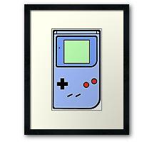 Blue Vintage Gameboy series Framed Print