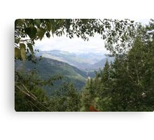 Nature framed montana moutains Canvas Print