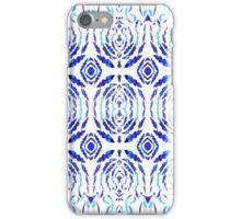 Whimsical Geometry In Blue  iPhone Case/Skin