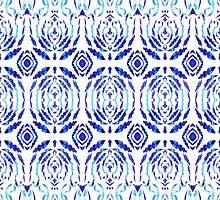 Whimsical Geometry In Blue  by Irina Sztukowski