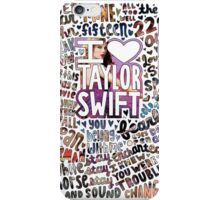 Taylor Swift Songs Photo Collage iPhone Case/Skin