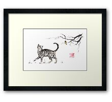 Play it cool sumi-e painting Framed Print