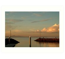 Last Ray's Limberners Point,Geelong Art Print