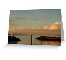 Last Ray's Limberners Point,Geelong Greeting Card