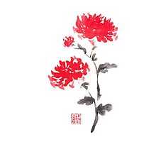 Royal pair sumi-e painting Photographic Print