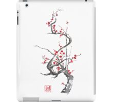 Chinese plum tree blossom sumi-e painting iPad Case/Skin