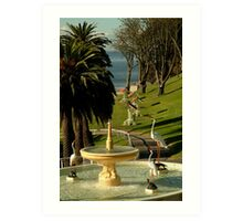 Fountain,Eastern Beach Art Print
