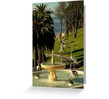 Fountain,Eastern Beach Greeting Card