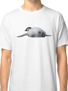 Emperor penguin chick lying down, rear view Classic T-Shirt