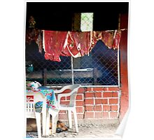 Smoking meat, Oaxaca, Mexico Poster