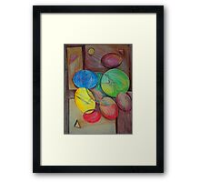Colorful abstract modern art Framed Print