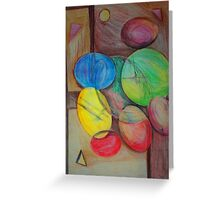 Colorful abstract modern art Greeting Card