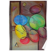 Colorful abstract modern art Poster