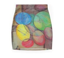 Colorful abstract modern art Mini Skirt