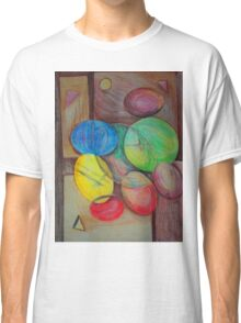 Colorful abstract modern art Classic T-Shirt