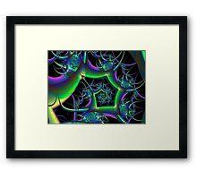 Angular Spiral Framed Print