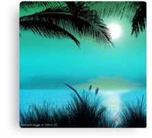 Tropical Island Palm Trees Canvas Print