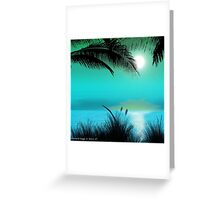 Tropical Island Palm Trees Greeting Card
