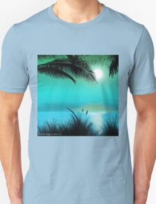 Tropical Island Palm Trees Unisex T-Shirt