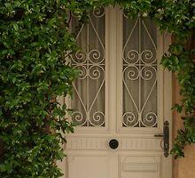 pretty vine surrounded door, Ramatuelle, France by BronReid