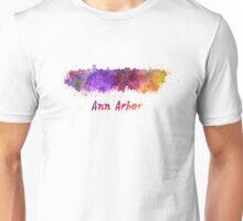 Ann Arbor skyline in watercolor Unisex T-Shirt