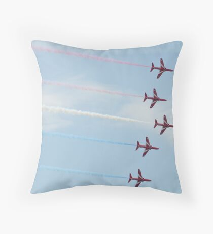 Red Arrows Display Team Throw Pillow