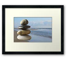 Zen beach Framed Print